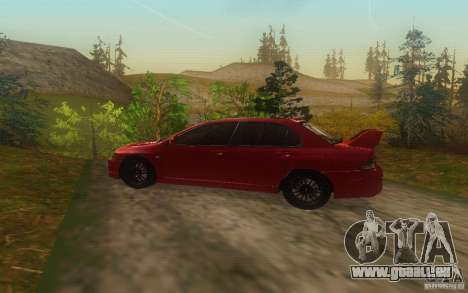 Mitsubishi Lancer Evolution IX 2006 MR v2 pour GTA San Andreas laissé vue