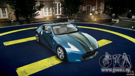 Nissan 370Z Coupe 2010 für GTA 4 obere Ansicht