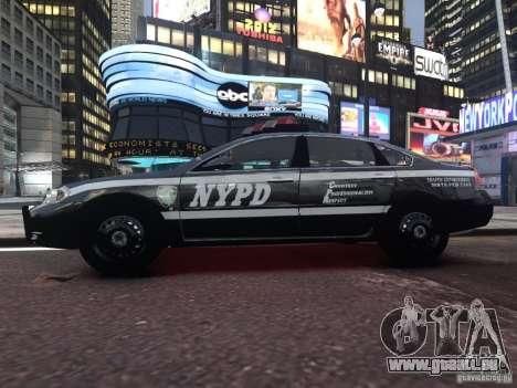 Chevrolet Impala 2006 NYPD Traffic pour GTA 4 Vue arrière