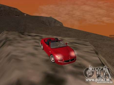 Maserati Spyder Cambiocorsa pour GTA San Andreas vue de côté