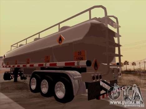 Anhänger Kenworth T2000 für GTA San Andreas zurück linke Ansicht