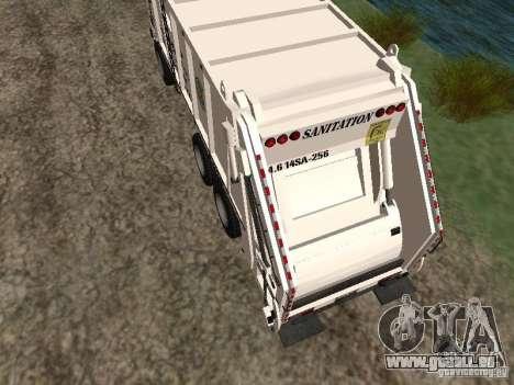 Camion à ordures de GTA 4 pour GTA San Andreas sur la vue arrière gauche