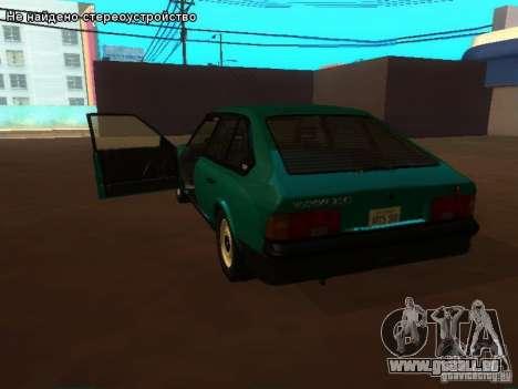 Moskvich 2141 pour GTA San Andreas vue intérieure