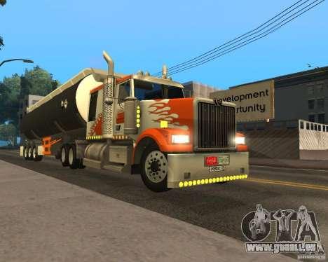 Western Star 4900 EX pour GTA San Andreas laissé vue