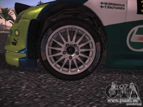 Ford Focus RS WRC 2006 pour GTA San Andreas vue intérieure