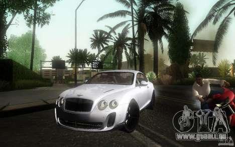 Bentley Continental SS pour GTA San Andreas vue de droite