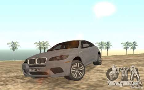 BMW X6M für GTA San Andreas obere Ansicht