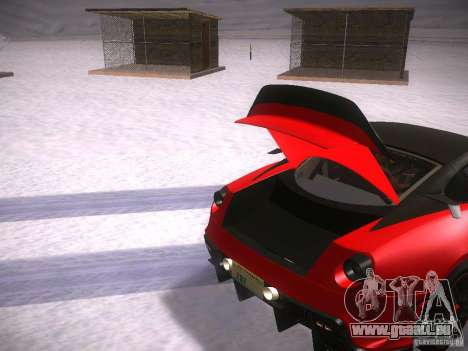 Ferrari 599XX pour GTA San Andreas vue de côté