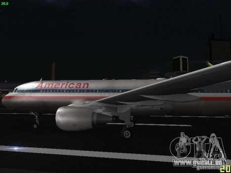 Airbus A320 für GTA San Andreas linke Ansicht