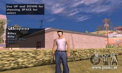Weapon spawner pour GTA San Andreas deuxième écran