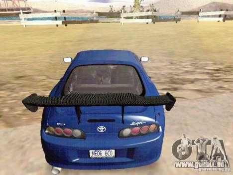 Toyota Supra Drift Edition pour GTA San Andreas laissé vue