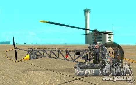 Sea Bell H13 pour GTA San Andreas sur la vue arrière gauche