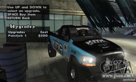 Dodge Power Wagon Paintjobs Pack 2 für GTA San Andreas Rückansicht