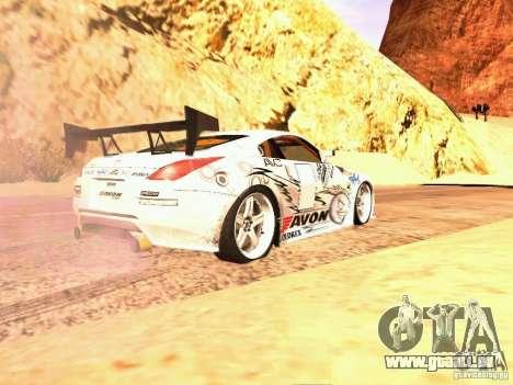 Nissan 350Z Avon Tires pour GTA San Andreas laissé vue