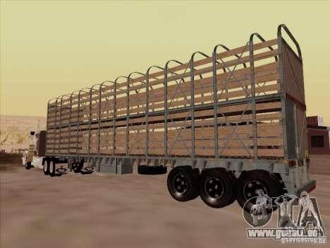 Trailer für Mack RoadTrain für GTA San Andreas zurück linke Ansicht