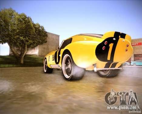 Shelby Cobra Daytona Coupe 1965 pour GTA San Andreas sur la vue arrière gauche