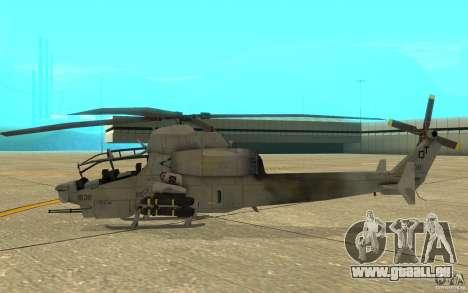 Cobra pour GTA San Andreas sur la vue arrière gauche