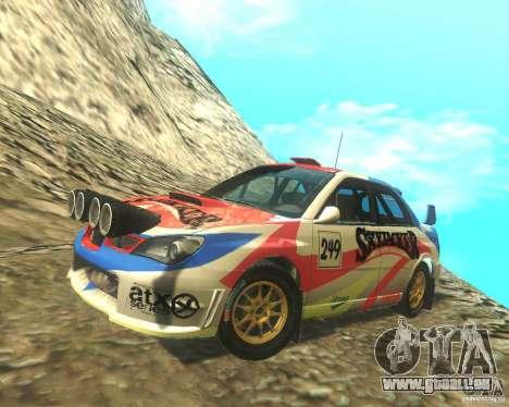 Subaru Impreza WRX STI DIRT 2 pour GTA San Andreas vue de dessous