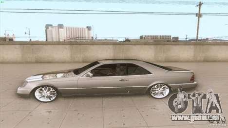 Mercedes Benz 600 SEC pour GTA San Andreas laissé vue