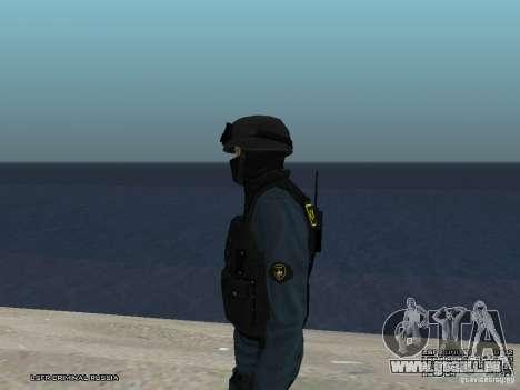 Agent de POLICE d'émeute pour GTA San Andreas septième écran