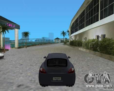 Porsche Panamera pour GTA Vice City sur la vue arrière gauche