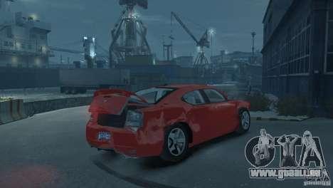 Dodge Charger 2007 SRT8 pour GTA 4 vue de dessus