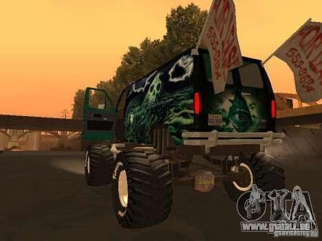 Ford Grave Digger pour GTA San Andreas laissé vue