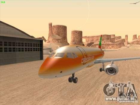 Sukhoi Superjet-100 pour GTA San Andreas vue intérieure