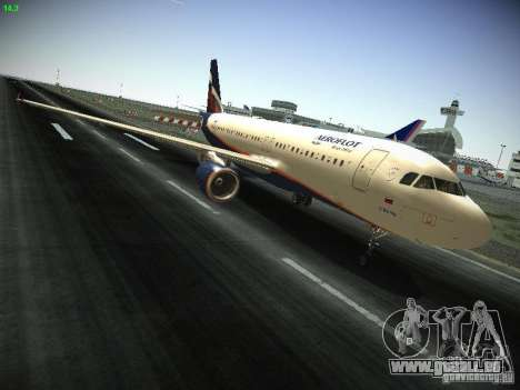 Aeroflot Russian Airlines Airbus A320 pour GTA San Andreas vue intérieure