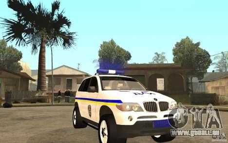 BMW X 5 DAÌ pour GTA San Andreas vue arrière