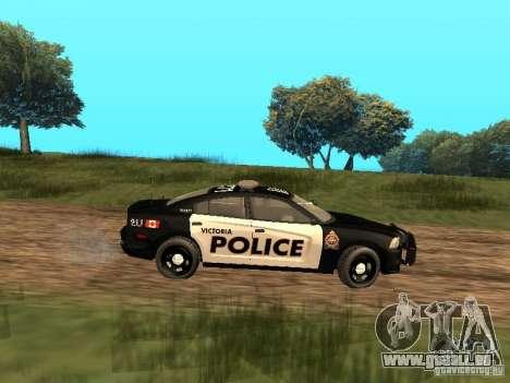 Dodge Charger Canadian Victoria Police 2011 für GTA San Andreas zurück linke Ansicht