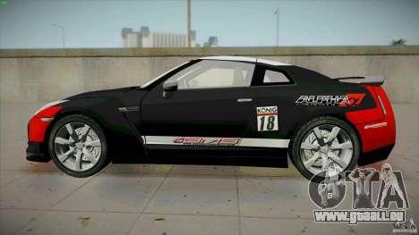 Nissan GT-R  AMS Alpha 12 pour GTA San Andreas laissé vue