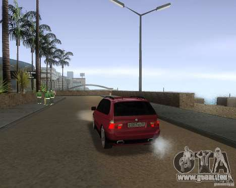 BMW X5 Sport Tun pour GTA San Andreas sur la vue arrière gauche