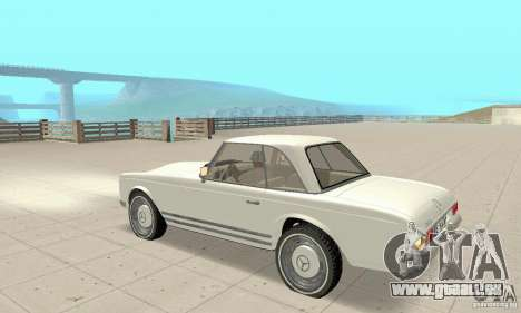 Mercedes-Benz 280SL (glänzend) für GTA San Andreas Rückansicht