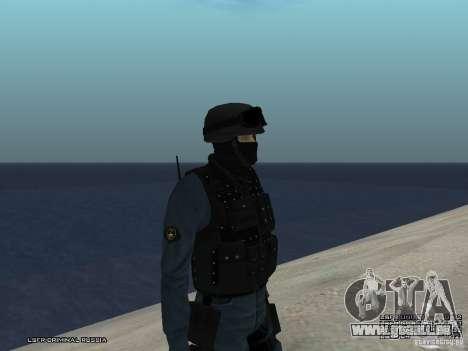 Agent de POLICE d'émeute pour GTA San Andreas deuxième écran