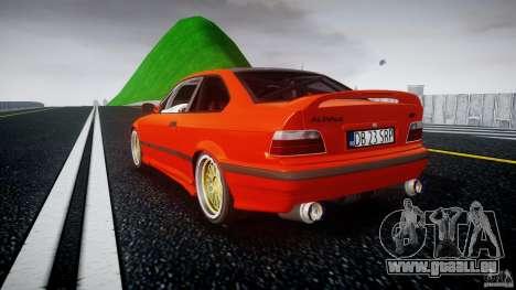 BMW E36 Alpina B8 pour GTA 4 Vue arrière de la gauche