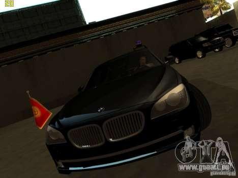 BMW 750Li pour GTA San Andreas sur la vue arrière gauche