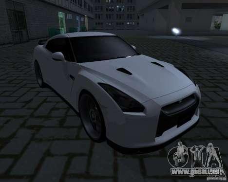 Nissan GTR-35 Spec-V pour GTA San Andreas sur la vue arrière gauche