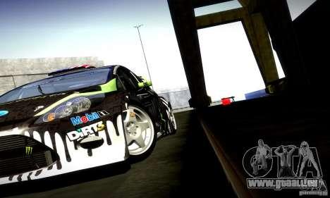 Ford Fiesta Gymkhana 4 pour GTA San Andreas vue intérieure