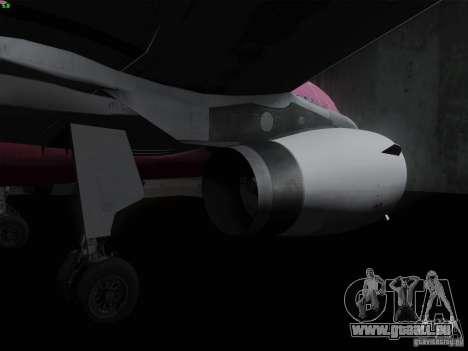 Airbus A319 Spirit of T-Mobile pour GTA San Andreas vue arrière