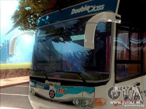 Marcopolo Paradiso 1800 G6 8x2 SCANIA pour GTA San Andreas laissé vue