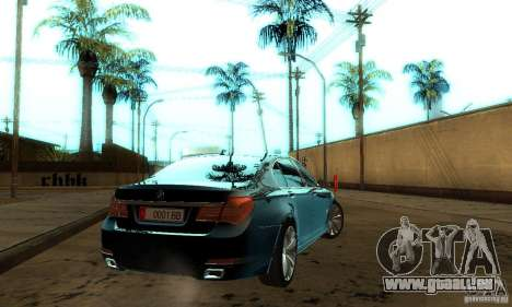 BMW 750Li pour GTA San Andreas vue intérieure