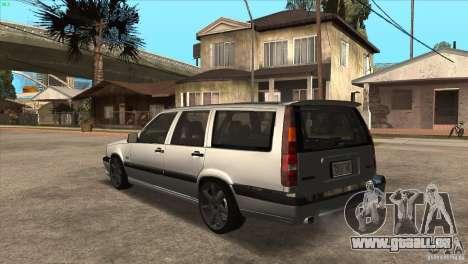 Volvo 850 R pour GTA San Andreas sur la vue arrière gauche