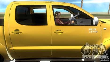 Toyota Hilux SRV 4x4 pour GTA Vice City vue arrière