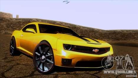 Chevrolet Camaro pour GTA San Andreas laissé vue