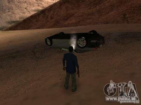 Voitures renversées ne brûlent pas pour GTA San Andreas sixième écran
