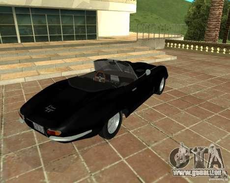 Jaguar E-Type 1963 pour GTA San Andreas sur la vue arrière gauche