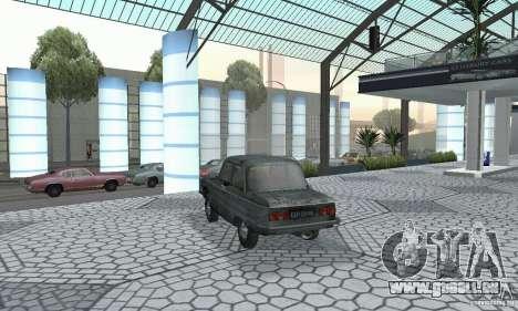 ZAZ 968 m en lambeaux pour GTA San Andreas laissé vue