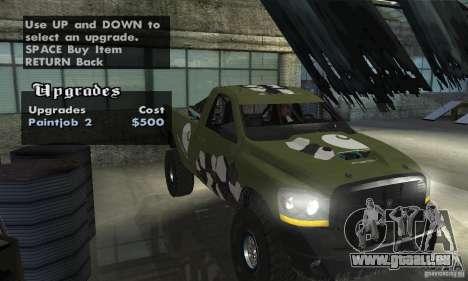 Dodge Power Wagon Paintjobs Pack 1 pour GTA San Andreas vue de droite