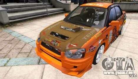 Subaru Impreza WRX STi GDB Team Orange pour GTA 4 est un droit